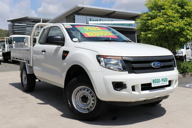 Used Ford Ranger PX XL Super Cab 4x2 Hi-Rider, 2015 Ford Ranger PX XL Super Cab 4x2 Hi-Rider White 6 speed Automatic Cab Chassis