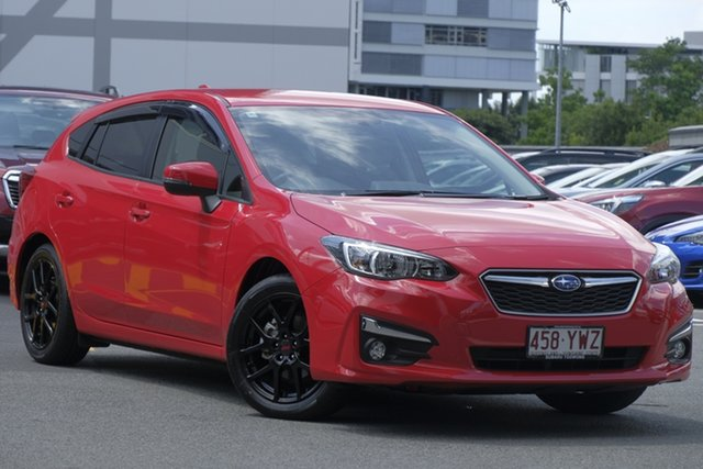 Demo Subaru Impreza G5 MY19 2.0i-L CVT AWD, 2019 Subaru Impreza G5 MY19 2.0i-L CVT AWD Pure Red 7 Speed Constant Variable Hatchback