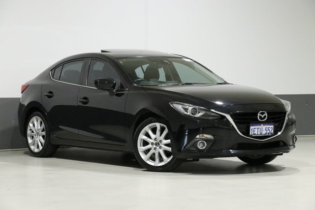 Used Mazda 3 BM SP25 GT, 2014 Mazda 3 BM SP25 GT Black 6 Speed Manual Sedan