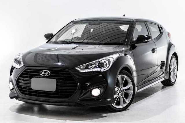 Used Hyundai Veloster FS5 Series II SR Coupe D-CT Turbo, 2017 Hyundai Veloster FS5 Series II SR Coupe D-CT Turbo Black 7 Speed Sports Automatic Dual Clutch