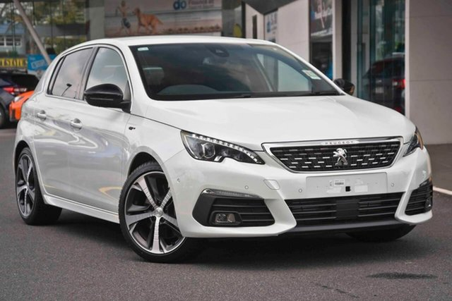 Demo Peugeot 308 T9 MY19 GT, 2019 Peugeot 308 T9 MY19 GT Pearl White 8 Speed Sports Automatic Hatchback