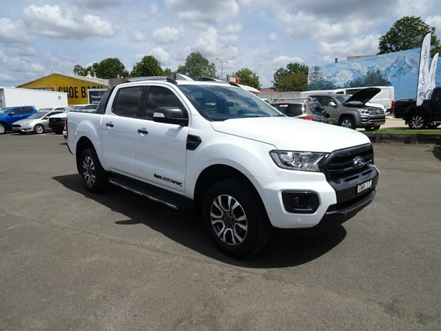 Used Ford Ranger  Wildtrak Pick-up Double Cab, 2018 Ford Ranger PX MKIII 2019.0 Wildtrak Pick-up Double Cab Frozen White 10 Speed Sports Automatic