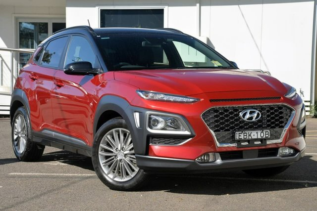 Used Hyundai Kona OS.2 MY19 Elite D-CT AWD, 2018 Hyundai Kona OS.2 MY19 Elite D-CT AWD Red 7 Speed Sports Automatic Dual Clutch Wagon