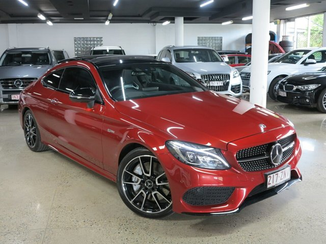 Used Mercedes-Benz C-Class C205 808MY C43 AMG 9G-Tronic 4MATIC, 2017 Mercedes-Benz C-Class C205 808MY C43 AMG 9G-Tronic 4MATIC Hyacinth Red 9 Speed Sports Automatic