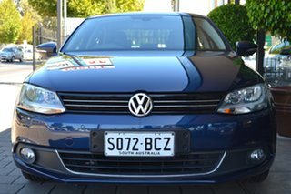 2014 Volkswagen Jetta 1B MY15 118TSI DSG Highline Blue 7 Speed Sports Automatic Dual Clutch Sedan.