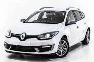 2017 Renault Megane KFB GT-Line EDC White 7 Speed Sports Automatic Dual Clutch Wagon.