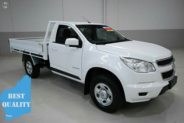 Used Holden Colorado RG MY15 LS 4x2, 2014 Holden Colorado RG MY15 LS 4x2 White 6 Speed Manual Cab Chassis