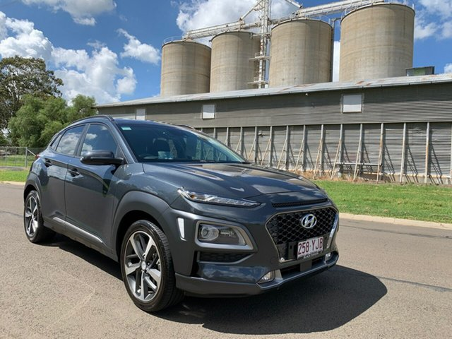 Used Hyundai Kona OS.2 MY19 Highlander (FWD), 2018 Hyundai Kona OS.2 MY19 Highlander (FWD) Grey 6 Speed Automatic Wagon