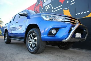 2015 Toyota Hilux GUN126R SR5 Double Cab Nebula Blue 6 Speed Sports Automatic Utility