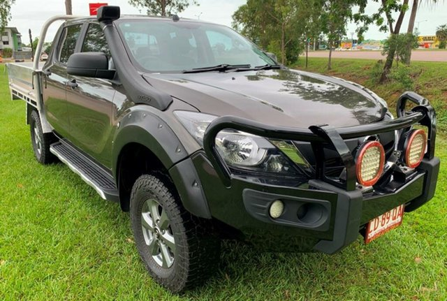 Used Mazda BT-50 UR0YG1 XT, 2017 Mazda BT-50 UR0YG1 XT Grey 6 Speed Manual Cab Chassis