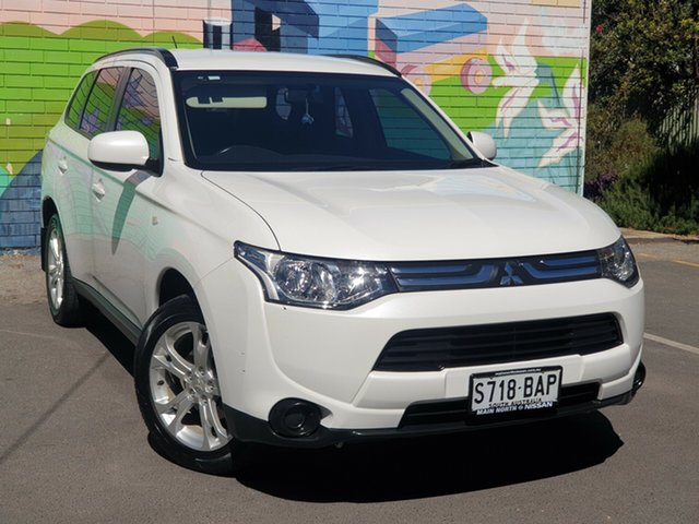 Used Mitsubishi Outlander ZJ MY13 ES 4WD, 2013 Mitsubishi Outlander ZJ MY13 ES 4WD White 6 Speed Constant Variable Wagon