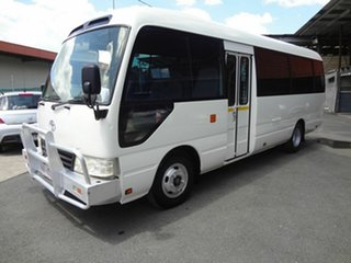 2012 Toyota Coaster XZB50R 07 Upgrade Standard (LWB) White Bus