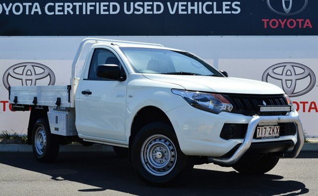 Used Mitsubishi Triton MQ MY16 GLX, 2016 Mitsubishi Triton MQ MY16 GLX White 5 Speed Manual Cab Chassis