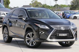 2015 Lexus RX200T AGL20R Luxury Black 6 Speed Automatic Wagon.