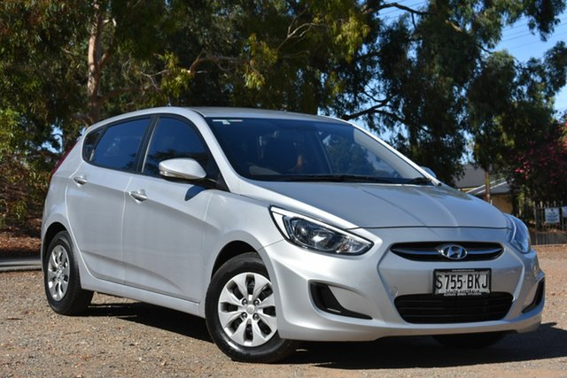 Used Hyundai Accent RB2 MY15 Active, 2015 Hyundai Accent RB2 MY15 Active Silver 4 Speed Sports Automatic Hatchback