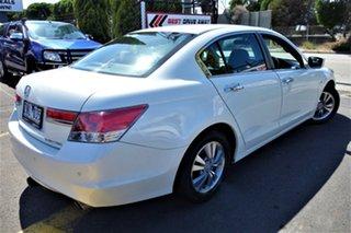 2012 Honda Accord 8th Gen MY12 VTi White 5 Speed Sports Automatic Sedan.