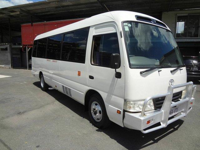 Used Toyota Coaster XZB50R 07 Upgrade Standard (LWB), 2012 Toyota Coaster XZB50R 07 Upgrade Standard (LWB) White Bus