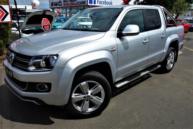 Used Volkswagen Amarok 2H MY14 TDI420 4Motion Perm Ultimate, 2013 Volkswagen Amarok 2H MY14 TDI420 4Motion Perm Ultimate Silver 8 Speed Automatic Utility