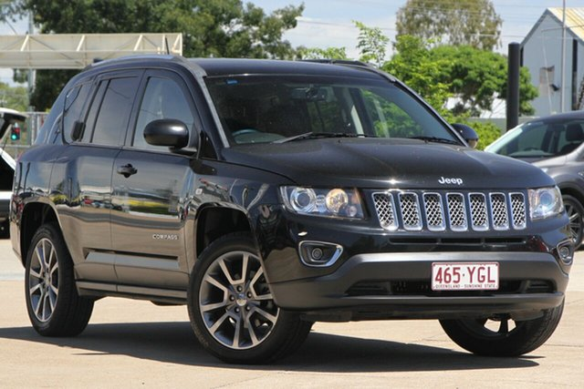Used Jeep Compass MK MY14 Limited, 2014 Jeep Compass MK MY14 Limited Black 6 Speed Sports Automatic Wagon
