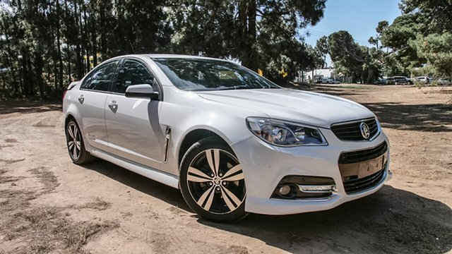 Used Holden Commodore VF MY14 SV6 Storm, 2014 Holden Commodore VF MY14 SV6 Storm White 6 Speed Sports Automatic Sedan