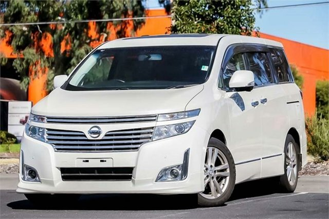 New Nissan Elgrand  Premium, 2010 Nissan Elgrand Premium White 6 Speed Constant Variable Wagon