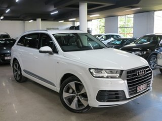2016 Audi Q7 4M MY17 TDI Tiptronic Quattro White 8 Speed Sports Automatic Wagon.