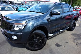 2014 Ford Ranger PX Wildtrak Double Cab Grey 6 Speed Sports Automatic Utility.