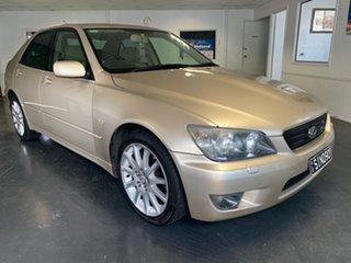 2004 Lexus IS300 JCE10R Sports Luxury Gold 5 Speed Automatic E-Shift Sedan.
