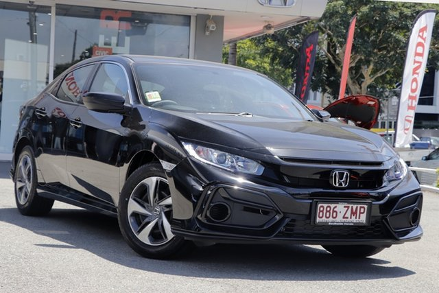 Demo Honda Civic 10th Gen MY20 VTi, 2019 Honda Civic 10th Gen MY20 VTi Crystal Black 1 Speed Constant Variable Hatchback