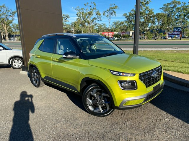 New Hyundai Venue QX MY20 Elite, 2020 Hyundai Venue QX MY20 Elite Yellow 6 Speed Automatic Wagon