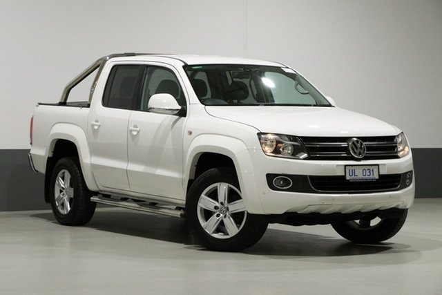 Used Volkswagen Amarok 2H MY14 TDI420 Highline (4x4), 2014 Volkswagen Amarok 2H MY14 TDI420 Highline (4x4) Candy White 8 Speed Automatic Dual Cab Utility