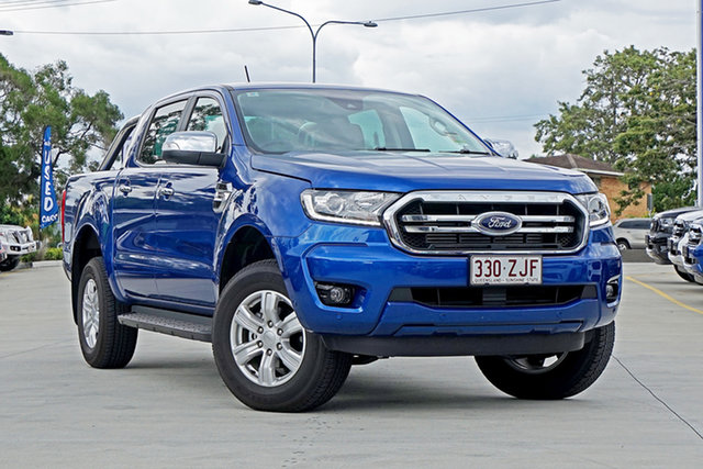Used Ford Ranger PX MkIII 2019.75MY XLT Pick-up Double Cab 4x2 Hi-Rider, 2019 Ford Ranger PX MkIII 2019.75MY XLT Pick-up Double Cab 4x2 Hi-Rider Blue Lightning 10 Speed