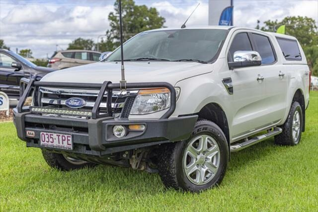 Used Ford Ranger PX XLT Double Cab, 2014 Ford Ranger PX XLT Double Cab Cool White 6 Speed Sports Automatic Utility