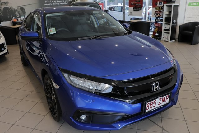 Demo Honda Civic 10th Gen MY19 RS, 2019 Honda Civic 10th Gen MY19 RS Blue 1 Speed Constant Variable Sedan