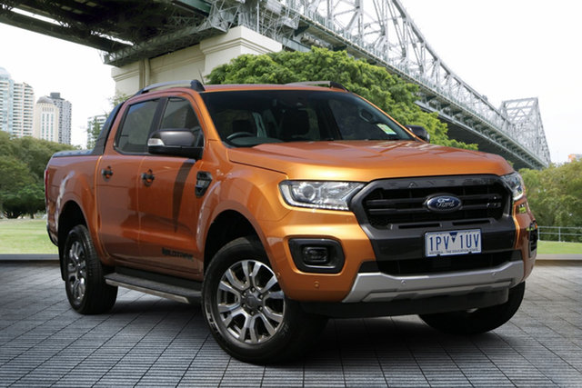 Used Ford Ranger PX MkIII 2019.00MY Wildtrak Pick-up Double Cab, 2018 Ford Ranger PX MkIII 2019.00MY Wildtrak Pick-up Double Cab Saber 6 Speed Manual Utility
