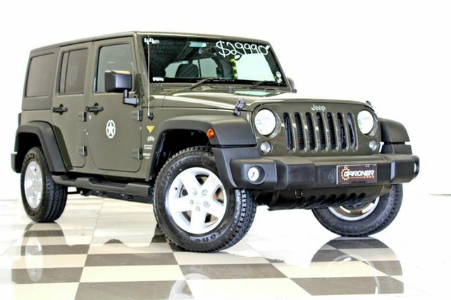 Used Jeep Wrangler Unlimited JK MY16 Sport (4x4), 2015 Jeep Wrangler Unlimited JK MY16 Sport (4x4) Grey 5 Speed Automatic Softtop