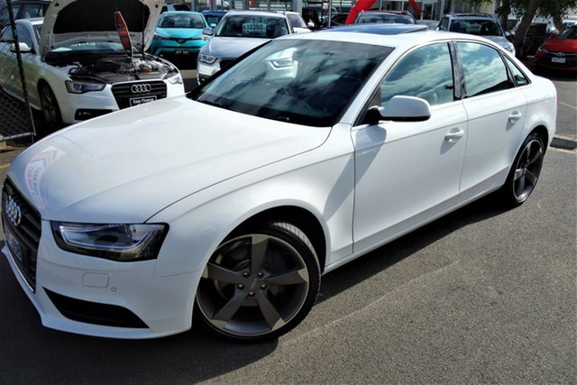 Used Audi A4 B8 8K MY13 Multitronic, 2013 Audi A4 B8 8K MY13 Multitronic White 8 Speed Constant Variable Sedan