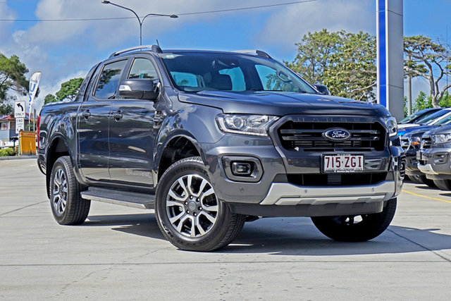 Used Ford Ranger PX MkIII 2019.75MY Wildtrak Pick-up Double Cab, 2019 Ford Ranger PX MkIII 2019.75MY Wildtrak Pick-up Double Cab Grey 10 Speed Sports Automatic