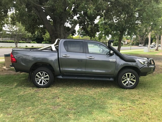 Used Toyota Hilux GUN126R SR5 Double Cab, 2016 Toyota Hilux GUN126R SR5 Double Cab Graphite 6 Speed Sports Automatic Utility