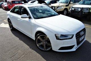 2013 Audi A4 B8 8K MY13 Multitronic White 8 Speed Constant Variable Sedan.