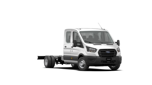 New Ford Transit VO 2019.75MY 470E Double Cab, 2019 Ford Transit VO 2019.75MY 470E Double Cab White 6 Speed Manual Cab Chassis