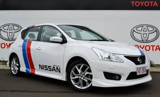 2014 Nissan Pulsar C12 SSS Heritage Edition White Continuous Variable Hatchback.
