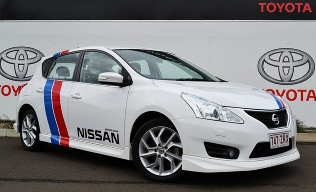Used Nissan Pulsar C12 SSS Heritage Edition, 2014 Nissan Pulsar C12 SSS Heritage Edition White Continuous Variable Hatchback