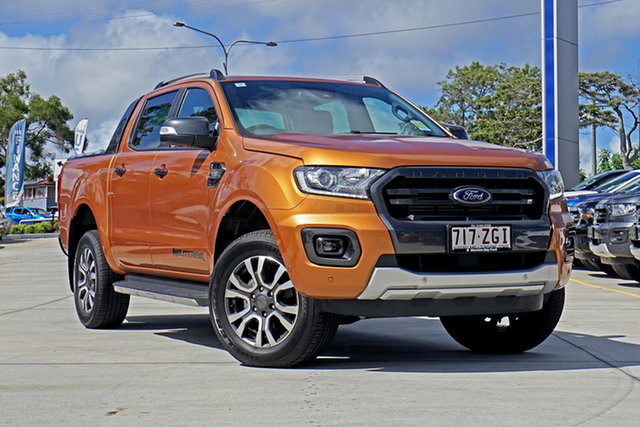 Used Ford Ranger PX MkIII 2019.75MY Wildtrak Pick-up Double Cab, 2019 Ford Ranger PX MkIII 2019.75MY Wildtrak Pick-up Double Cab Saber 6 Speed Sports Automatic
