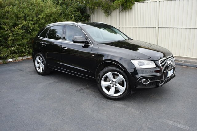 Used Audi Q5 8R MY15 TDI S Tronic Quattro, 2014 Audi Q5 8R MY15 TDI S Tronic Quattro Black 7 Speed Sports Automatic Dual Clutch Wagon