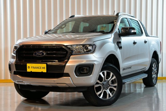 Used Ford Ranger PX MkII 2018.00MY Wildtrak Double Cab, 2018 Ford Ranger PX MkII 2018.00MY Wildtrak Double Cab Silver 6 Speed Manual Utility