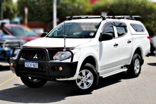 2016 Mitsubishi Triton MQ MY16 GLX+ Double Cab White 5 Speed Sports Automatic Utility.