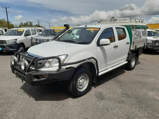 2014 Isuzu D-MAX MY15 SX Crew Cab White 5 Speed Manual Cab Chassis