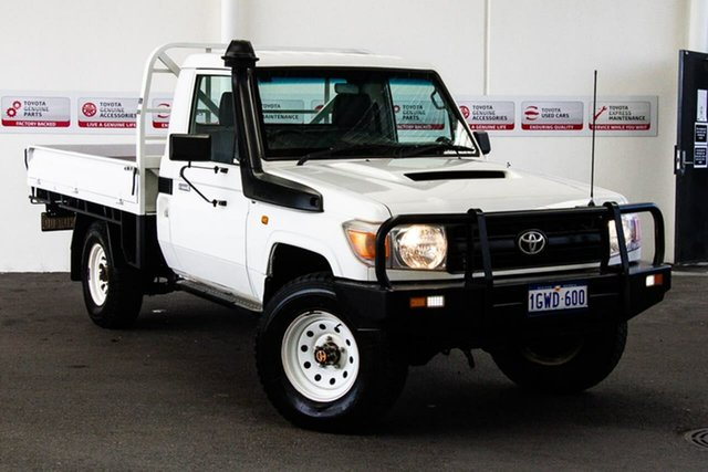 Used Toyota Landcruiser VDJ79R 09 Upgrade Workmate (4x4), 2012 Toyota Landcruiser VDJ79R 09 Upgrade Workmate (4x4) French Vanilla 5 Speed Manual Cab Chassis