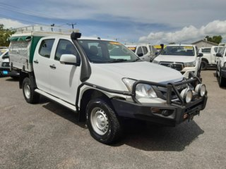 2014 Isuzu D-MAX MY15 SX Crew Cab White 5 Speed Manual Cab Chassis.